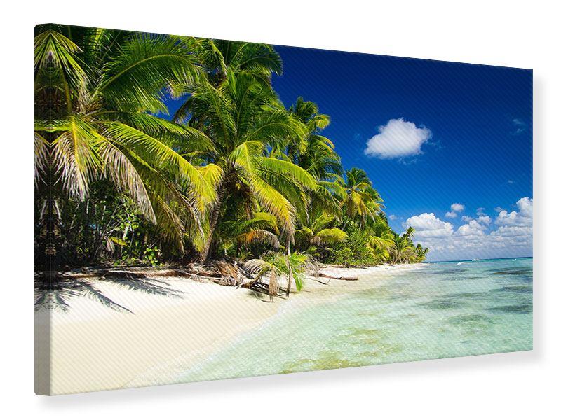 Leinwandbild Die einsame Insel