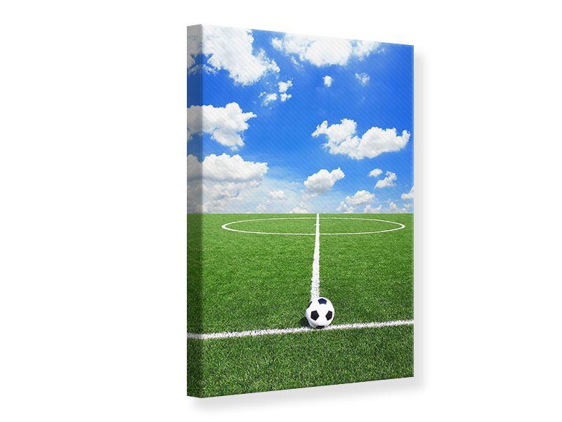 Leinwandbild Fussballfeld