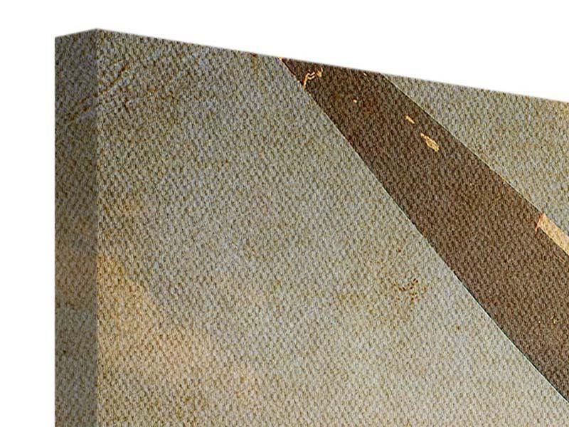 Leinwandbild Propellerflugzeug im Grungestil