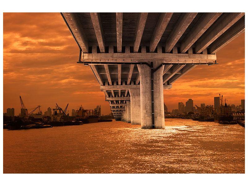 Leinwandbild Die Brücke