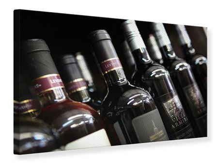 Leinwandbild Flaschenweine