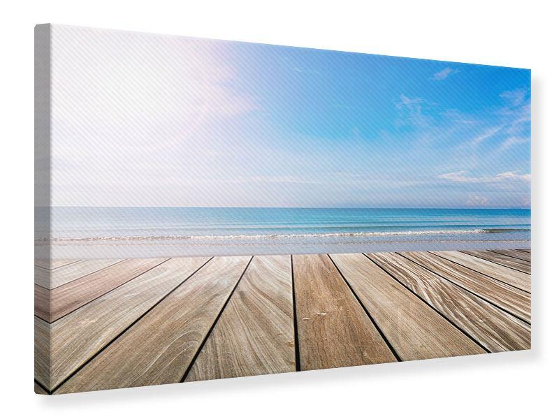 Leinwandbild Das schöne Strandhaus
