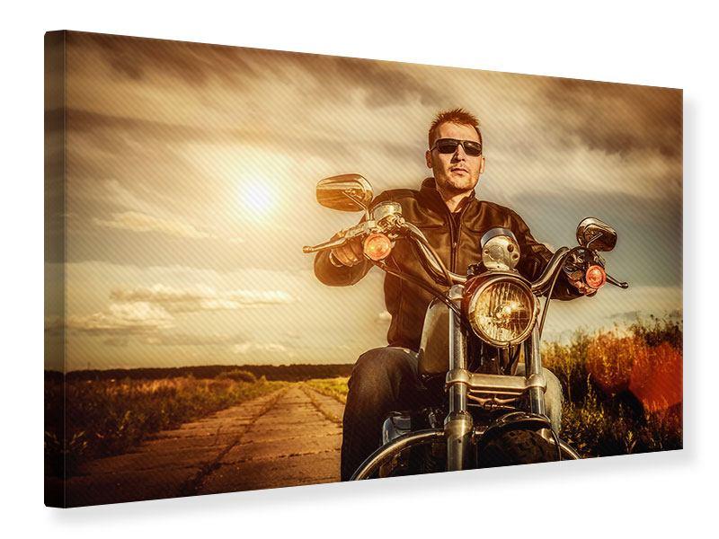 Leinwandbild Der Coole Biker