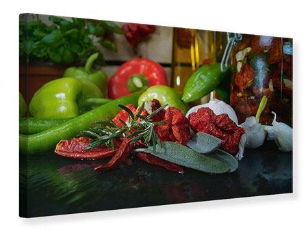 Leinwandbild Mediterranes Gemüse