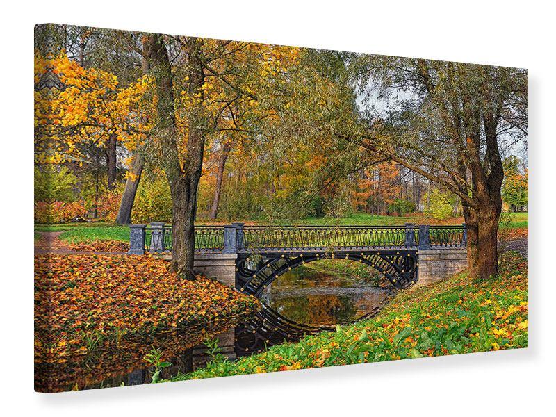 Leinwandbild Romantischer Park