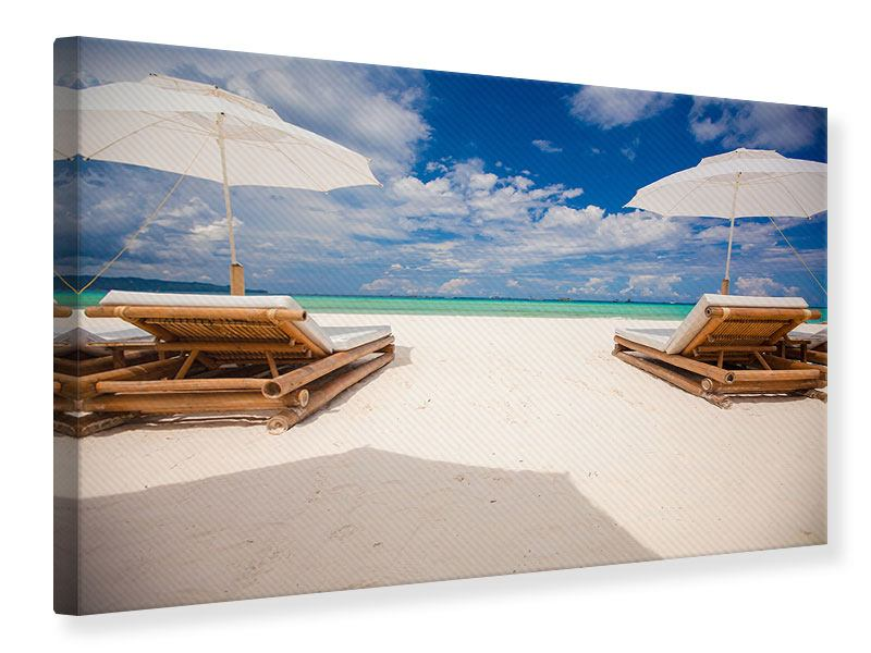 Canvas Print Chairs On The Beach