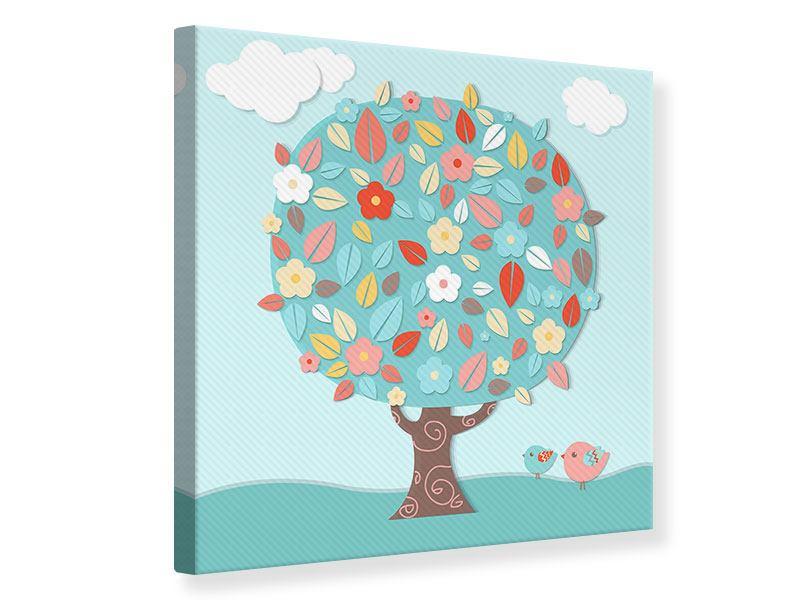 Leinwandbild Der Kinderzimmer Baum - Jetzt bestellen!