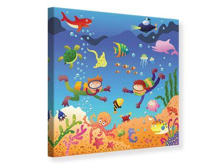 Leinwandbild Lustige Fische