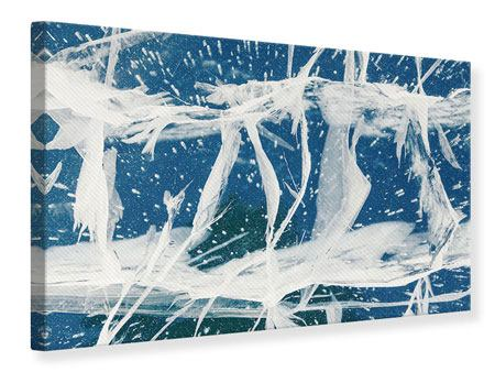 Leinwandbild Eiskristalle