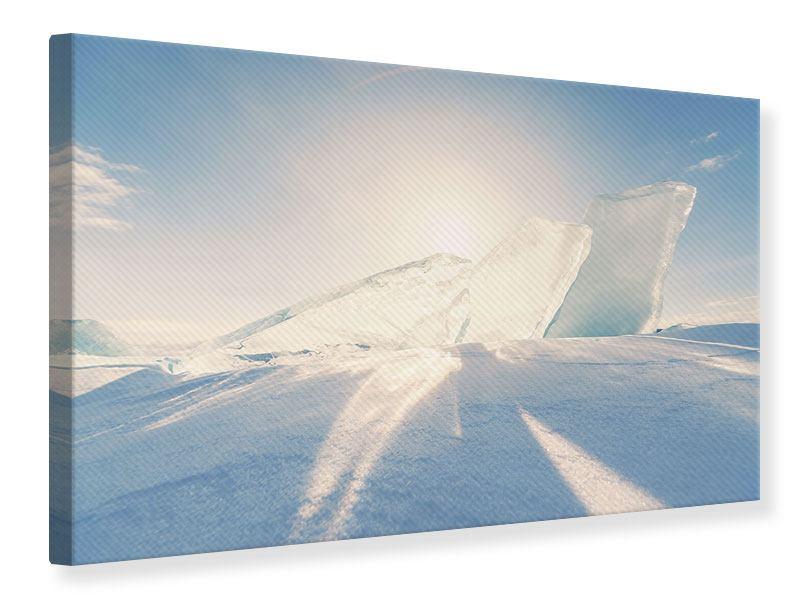 Leinwandbild Eislandschaft