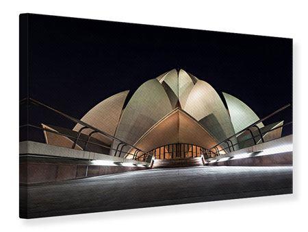 Leinwandbild Der Lotus-Tempel