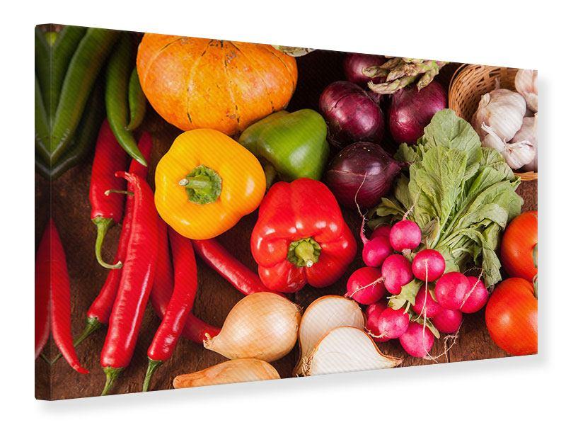 Leinwandbild Gemüsefrische