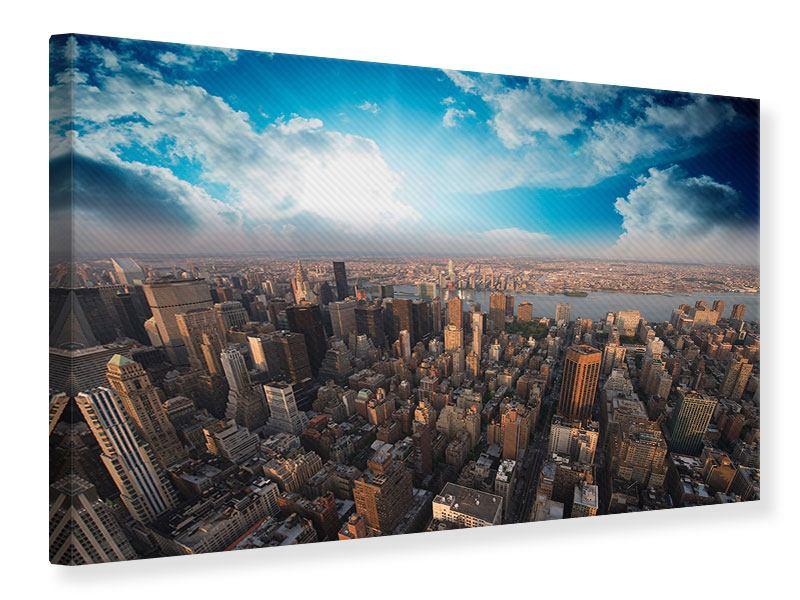 Leinwandbild Skyline Über den Dächern von Manhattan