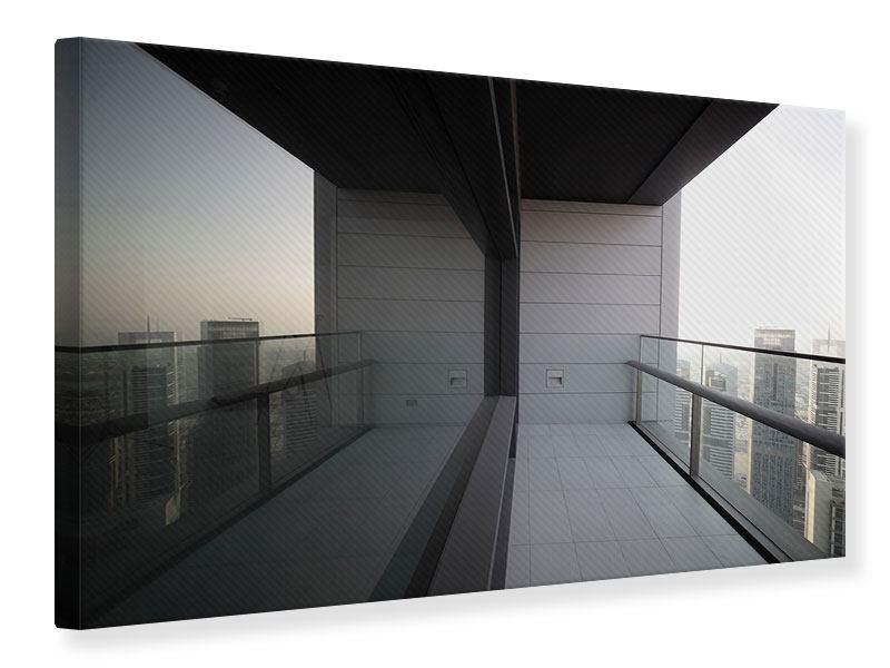 Leinwandbild Balkon in Dubai