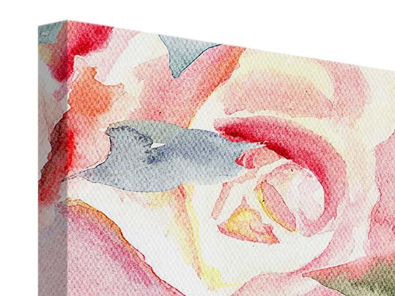 Leinwandbild Rosengemälde