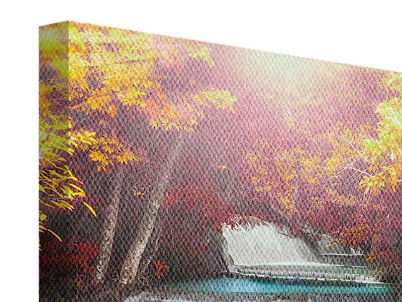 Leinwandbild Huay Mae Khamin Wasserfall
