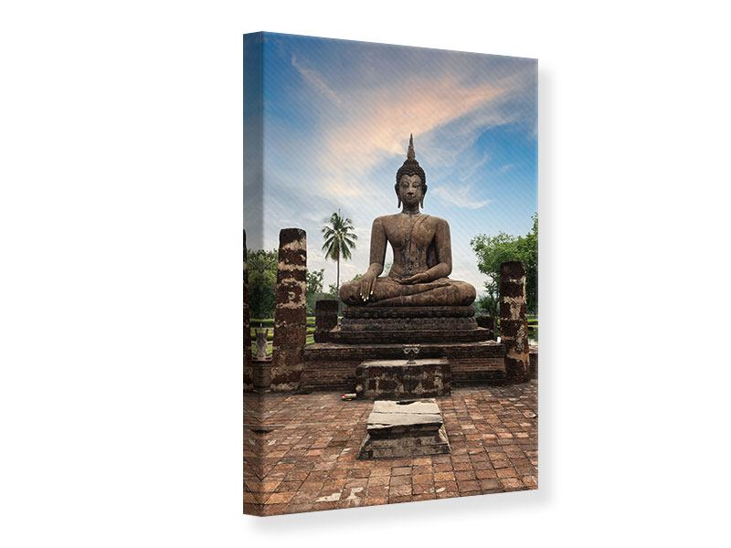 Leinwandbild Buddha Statue