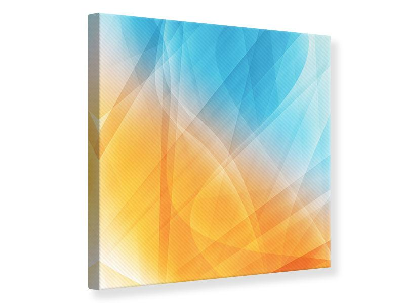 Leinwandbild Abstrakte Fliessende Farben