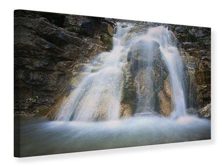 Leinwandbild Imposanter Wasserfall