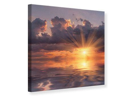 Leinwandbild Packender Sonnenuntergang