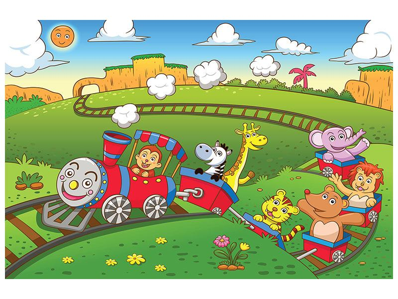Leinwandbild Zug Tiere