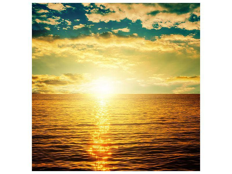 Leinwandbild Sonnenuntergang am Meereshorizont