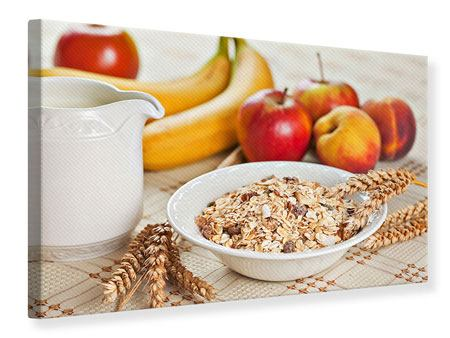 Leinwandbild Frühstück
