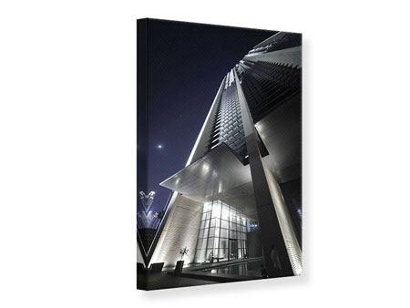 Leinwandbild Wolkenkratzer in Dubai