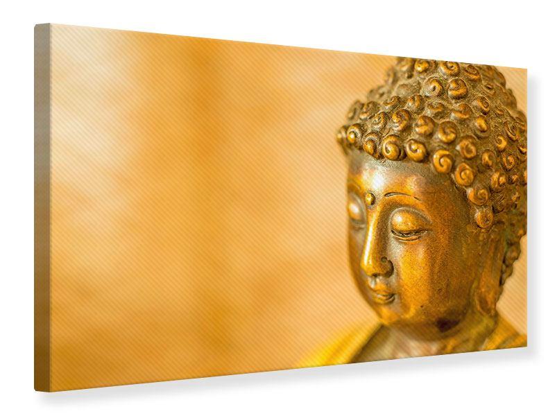Leinwandbild Buddha Kopf