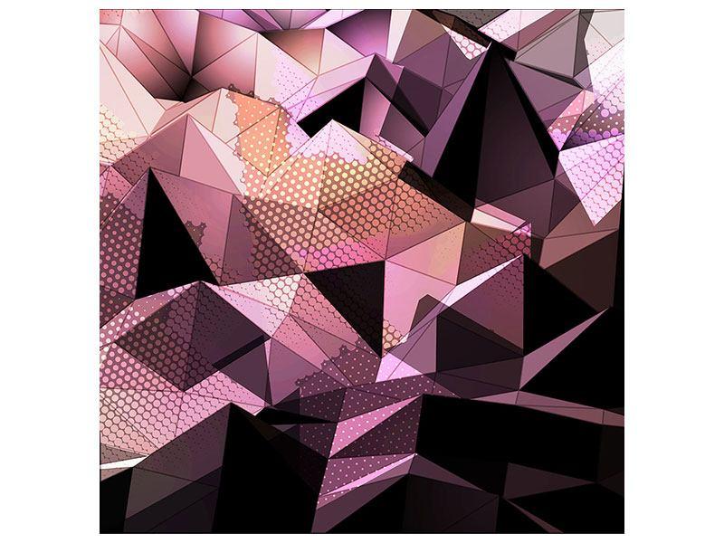 Leinwandbild 3D-Kristallstruktur