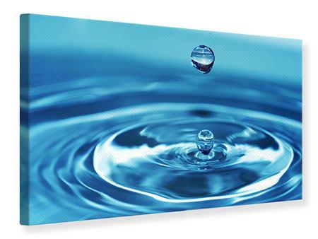 Leinwandbild Der Wassertropfen