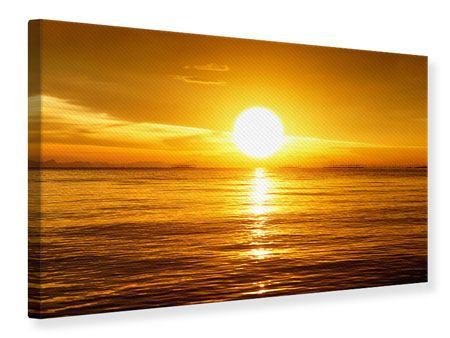 Leinwandbild Traumhafter Sonnenuntergang