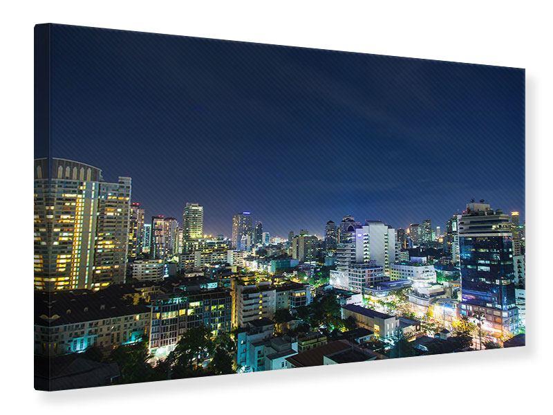 Leinwandbild Skyline Nachts in Bangkok