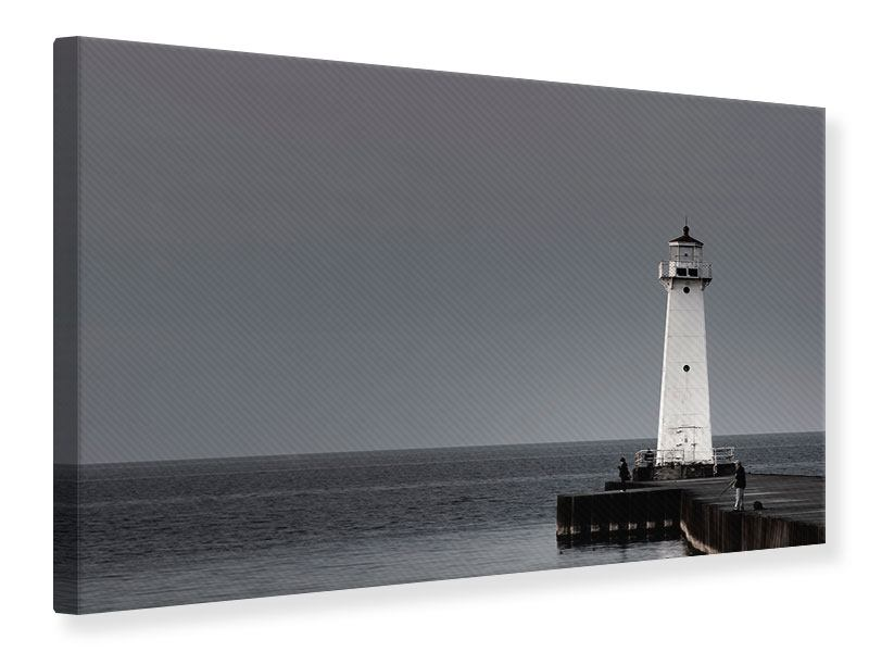 Leinwandbild Der Leuchtturm bei Nacht