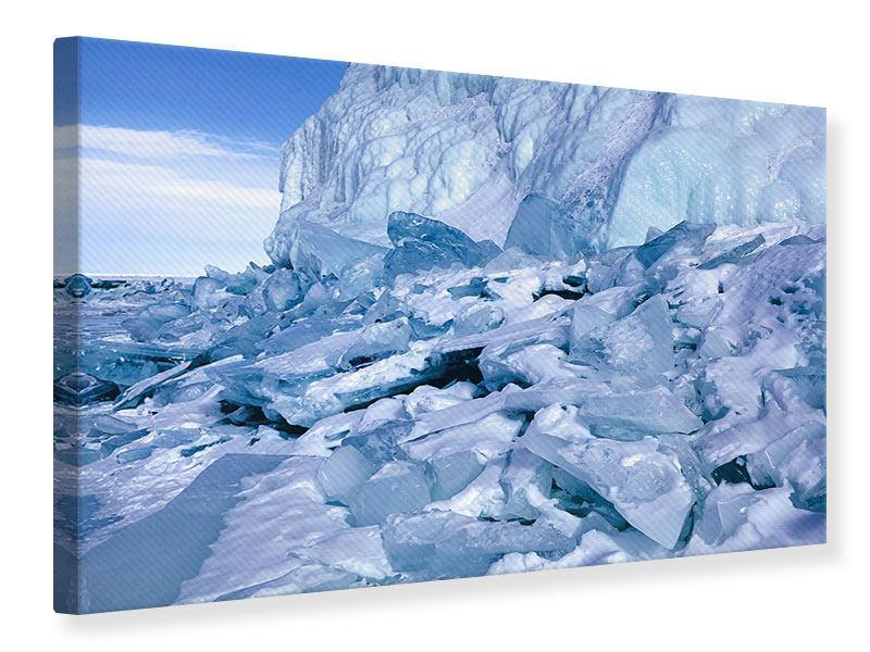 Leinwandbild Eislandschaft Baikalsee