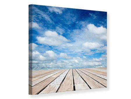Leinwandbild Hoch über den Wolken