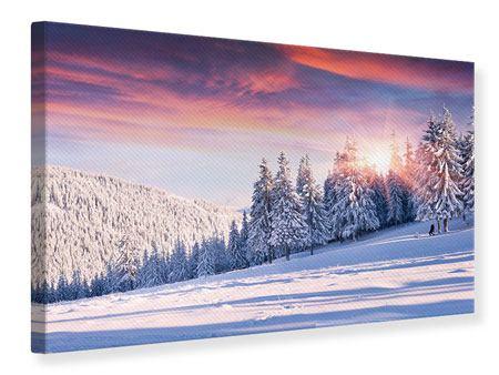 Leinwandbild Winterlandschaft