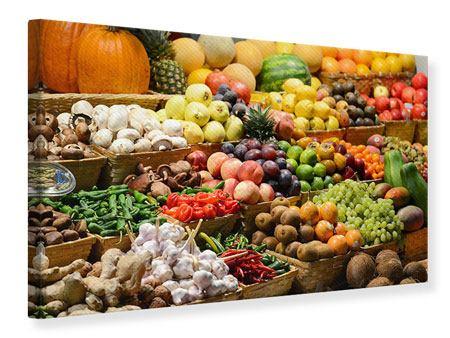 Leinwandbild Obstmarkt