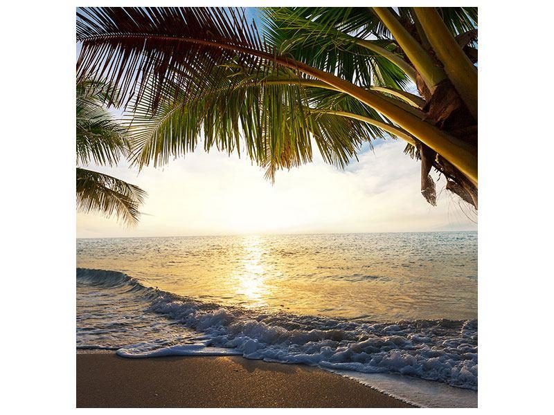Leinwandbild Strandsicht