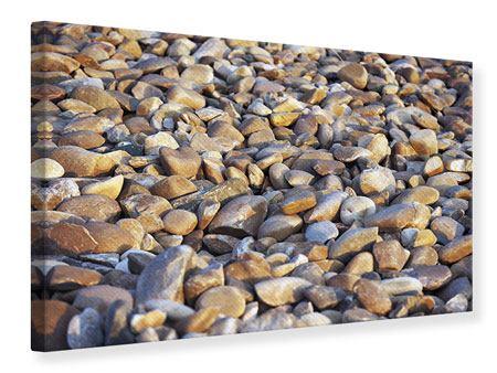 Leinwandbild Strandsteine