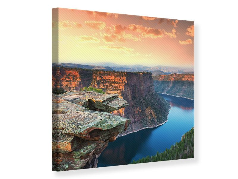 Canvas Print Sunset Rocky Mountains