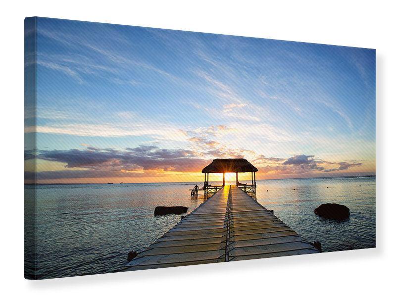 Leinwandbild Romantik auf Mauritius