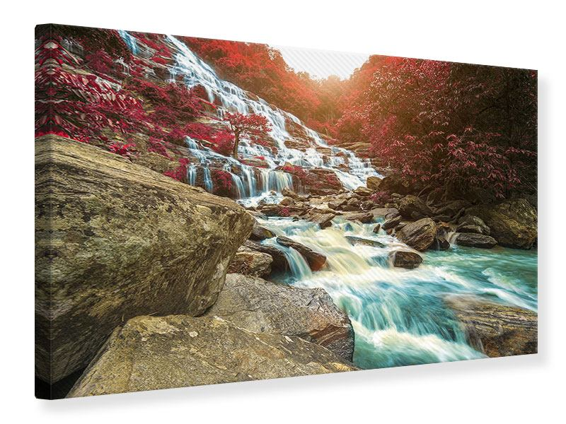 Leinwandbild Exotischer Wasserfall