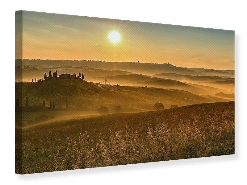 Leinwandbild Sonnenuntergang im Gebirge