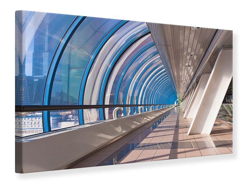 Leinwandbild Hypermoderne Brücke