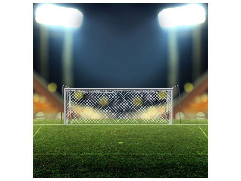 Leinwandbild Fussballtor