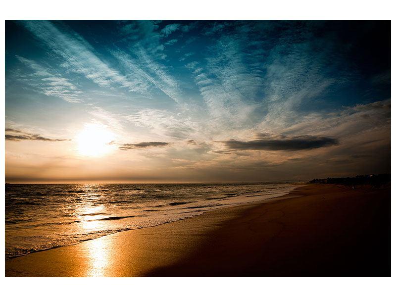 Leinwandbild Strandspaziergang