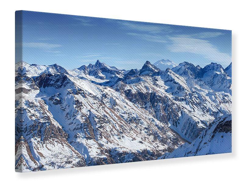Leinwandbild Gipfelspitzen
