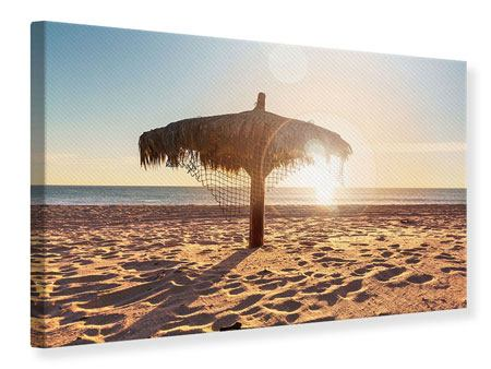Leinwandbild Der Sonnenschirm