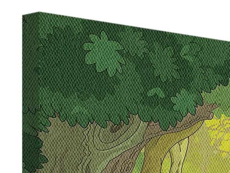 Leinwandbild Der Märchenwald